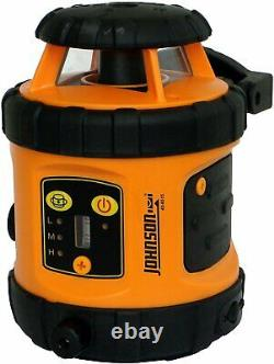 Johnson Level & Tool 99-006K Self Leveling Rotary Laser System Kit, Soft