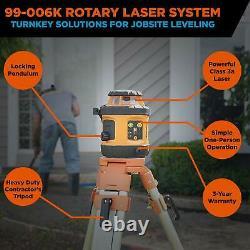 Johnson Level & Tool 99-006K Self Leveling Rotary Laser System Kit Soft Shell