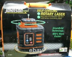 Johnson Self-Leveling Rotary Green Laser 40-6543 BRAND NEW