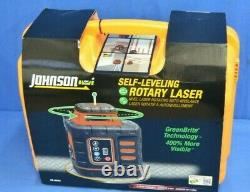 Johnson Self-Leveling Rotary Laser with GreenBrite Tech 40-6543