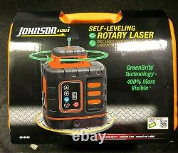 Johnson Self-Leveling Rotary Laser with GreenBrite Tech 40-6543 BRAND NEW