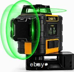 KAIWEETS 3D 3X 360° Self Auto Leveling Rotary Green Laser Level Lithium Battery