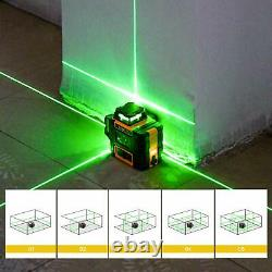 KAIWEETS 3D Green Beam Self-Leveling Laser Level 3x360 Rotary Line Laser