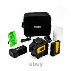 KAIWEETS Rotary Laser Level KT360B, Self-Leveling Green Laser Line, 360° Hori