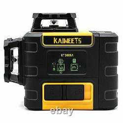 KAIWEETS Self-leveling green Laser Level 360 Rotating Rotary with bag/holder