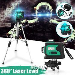 Laser Level 3D 12 Line Green Self Leveling 360°Rotary Cross Laser Measuring Tool