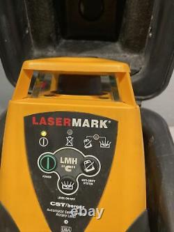 Lasermark LMH Series Automatic Self Leveling Rotary Laser. CST/berger