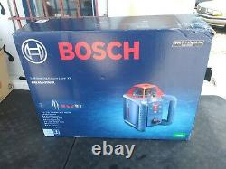 NEW! BOSCH Self Leveling Rotary Laser Level Kit with Bracket GRL800-20HVK