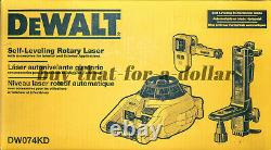 NEW DeWALT DW074KD Interior-Exterior Self Leveling Rotary Laser with Accessories