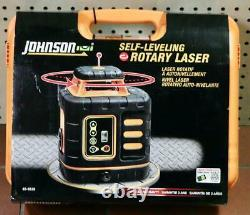 NEW Johnson 40-6539 Red Self Leveling Rotary Laser Kit