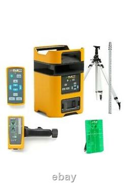 PLS HV2G KIT, dual slope, Green Rotary Laser system withtripod and Grade rod