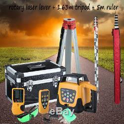 Ridgeyard Green Beam Self-Leveling Vertical Rotary Laser Level Staff Tripod 360