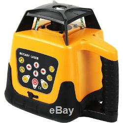 Ridgeyard Self-Leveling 360 Degree Rotary Rotating Red Laser Level Kit with Case