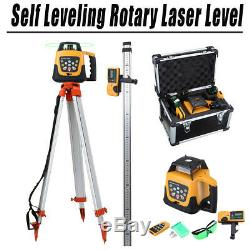 Ridgeyard Self Leveling Laser Level Kit GREEN Beam 360 Rotary Rotating + Tripod