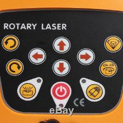 Ridgeyard Self-Leveling Rotary Rotating Red Laser Level Kit 500M withTripod Staff