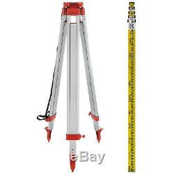 Rotary Laser Level + Tripod + Staff Self Leveling Red Construction Measuring Kit