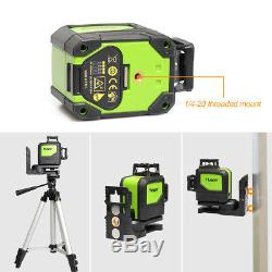 Rotary laser level green Cross Line Laser Self Leveling 902CG Huepar 8 lines