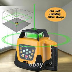Self-Leveling Rotary Rotating Green Laser Level Kit 500M Range With 1.65M Tripod