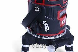 Self Levelling 4v1h Plumb Dot Cross Rotary Laser Level Tripod Receiver Detector