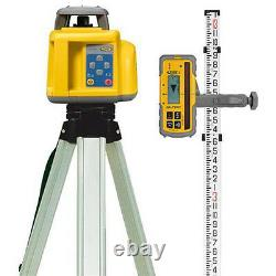Spectra Precision Self Levelling Rotary Laser Level W Receiver Staff & Tripod