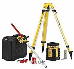 Stabila 05700 Dual Slope Rotary Laser Kit withTripod and Elevation Rod New