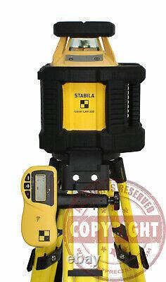 Stabila Lar200 Self-leveling Rotary Laser Level, Transit, Topcon, Trimble, Spectra