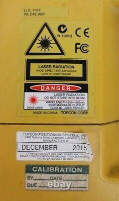 Topcon RL-H4C Self Leveling rotary laser level withLS-80L Laser Receiver with case