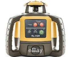 Topcon RL-H5A Self-Leveling Rotary Grade Laser Level with tripod Rod Bubble