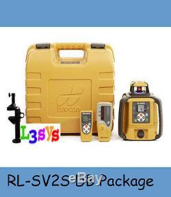 Topcon RL-SV2S DB Dual Slope Self-Leveling Rotary Laser Level, Tripod, Inch Rod