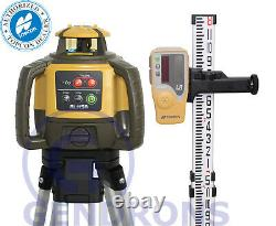 Topcon Rl-h5a Self-leveling Rotary Slope Laser Level + Tripod & Inches Grade Rod