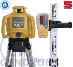 Topcon Rl-h5b Self-leveling Rotary Laser Level + Tripod & Grade Rod 10th