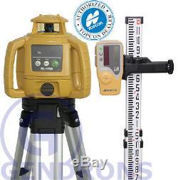 Topcon Rl-h5b Self-leveling Rotary Laser Level + Tripod & Grade Rod, Inch
