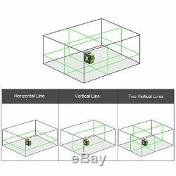 US 3D Green Beam 12 Cross Line Rotary Laser Level Self Leveling 4°±1° Tool