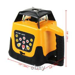 Used Self-Leveling Degree 360 Rotary Rotating Red Laser Level WithCase Kit IP 54