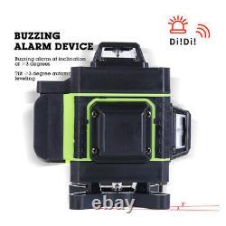 12/16 Lignes Green Laser Niveau 360° Rotary Auto-nivelage Cross Measurement Set D'outils