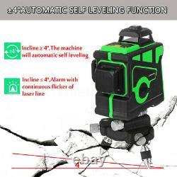 12 Lignes Green Laser Niveau 360 Rotary 3d Auto-nivelage Cross Measurement Tool Tripod