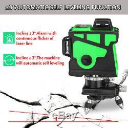 12 Lignes Laser Vert Niveau 360 ° Cross Rotary Horizontale Mesure Autonivellantes