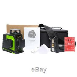 12 Lignes Niveau Laser Rotatif 3d Auto-nivelant 3 X 360 Degrés Vertical Horizontal