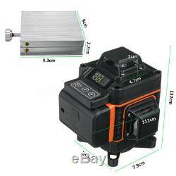 16 Ligne 4d Laser Niveau Green Light Auto Autolissant 360 ° Mesure Rotary Croix