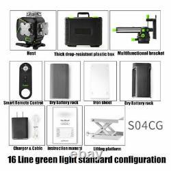 16 Ligne Laser Vert Niveau Auto-nivellement Ligne Transversale Bluetooth 360° Mesure Rotative