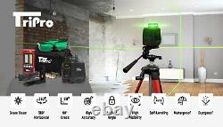 1x 360° Ultra Bright Green Plane & 1x Line Auto-level Rotary Cross Laser Kit