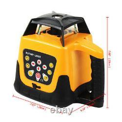 360° 500m Range Auto Auto-nivellement Rotatif Rotatif Laser Level Tripod Staff