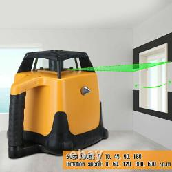 360° Automatique Auto-nivellement Vertical Green Beam Rotary Laser Level 1.65m Trépied