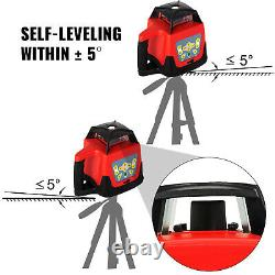360 Rotary Laser Leveling Device 500m Gamme Red Beam Auto-nivelant Waterproof