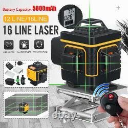 3d 12 / 16line Green Light Laser Niveau Numérique Autolissant 360 ° Mesure Rotary
