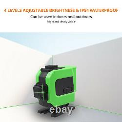 3d 12line Green Laser Level Auto Self Leveling 360° Rotary Cross Measure &toolbox