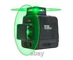 3d 2x 360° Plan 8 Ligne Auto-nivelage Rotary Green Laser Beam Level Tripod