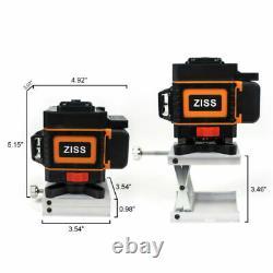 3d 360° 12 Lignes Green Laser Level Auto Self Leveling Rotary Cross Measurement Tool