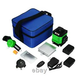 3d/4d 360° 12/16 Lines Green Laser Level Auto Auto Self Leveling Rotary Cross Measurement