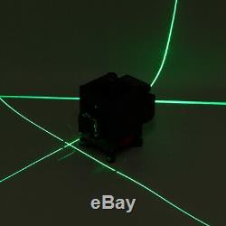 4d 16 3d 12 Ligne Verte Lumière Laser Niveau Autolissant 360 ° Mesure Outil Rotatif